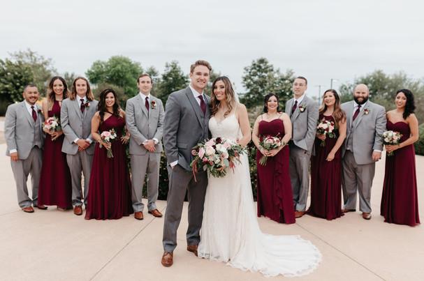 WEDDING PARTY Formal burgundy blush cream rustic elegance _PVEC