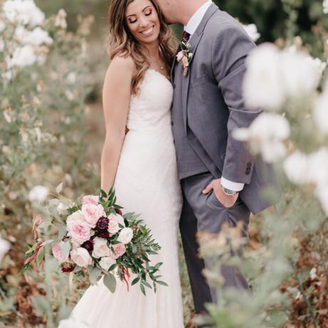 BRIDE & GROOM tender moments in the gard