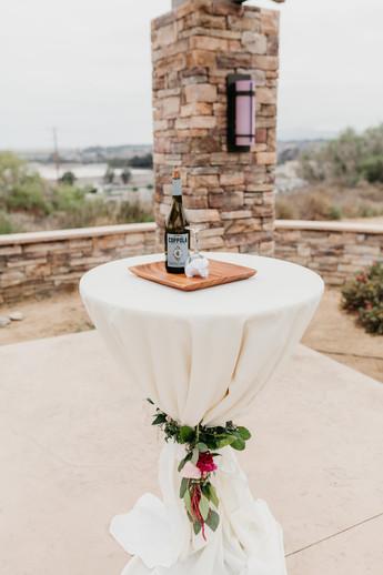 CEREMONY Pavillion table burgundy blush cream rustic elegance _@PacificViewsEventCenter