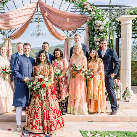 Hindu Catholic Fusion Wedding Party @FazeliCellarsWeddings