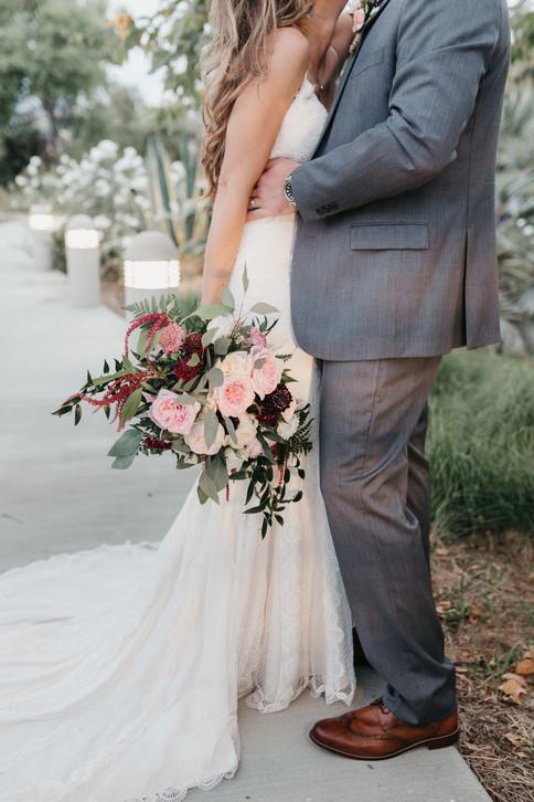 BRIDE & GROOM tender moments burgundy blush cream rustic elegance _@PacificViewsEventCenter