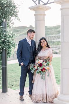 mr & mrs with bouquet 1 _fazeli