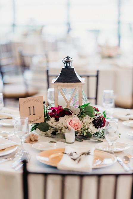 RECEPTION Lantern Centerpiece burgundy blush cream rustic elegance _@PacificViewsEventCenter table 11