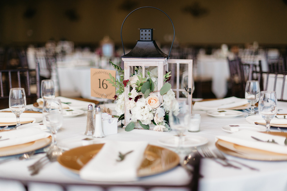 RECEPTION Lantern Centerpiece burgundy blush cream rustic elegance _@PacificViewsEventCenter table 16