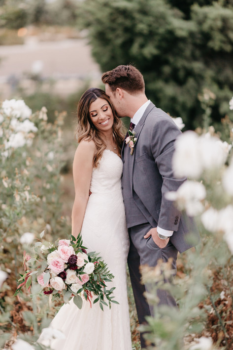 BRIDE & GROOM tender moments in the garden burgundy blush cream rustic elegance _@PacificViewsEventCenter