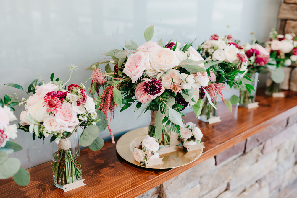 PERSONALS Bouquets rounded hand-tied burgundy blush cream rustic elegance _@PacificViewsEventCenter