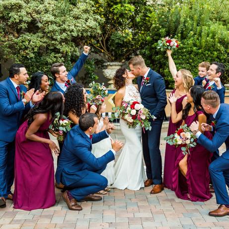 Kristen & Adam wedding party Balboa Park