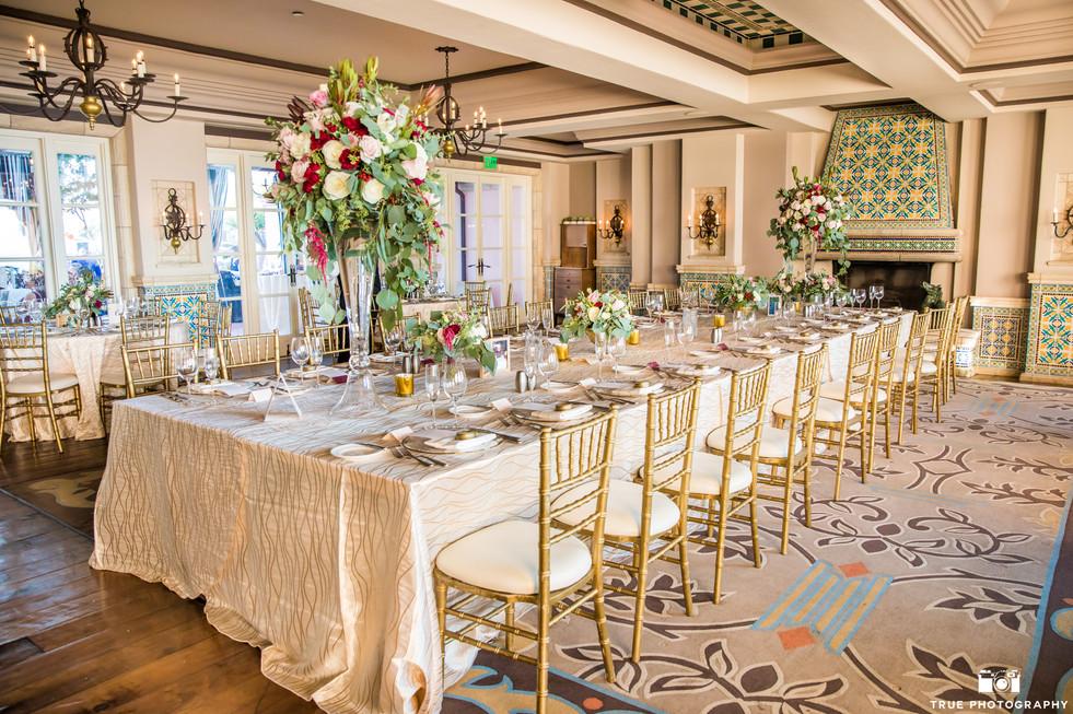 la valencia reception kings table