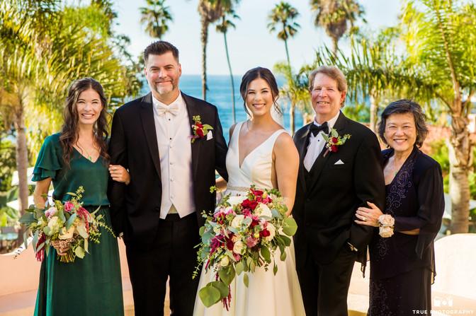 Dani & Clint _LaValenciaHotel bride groom brides sis and brides parents