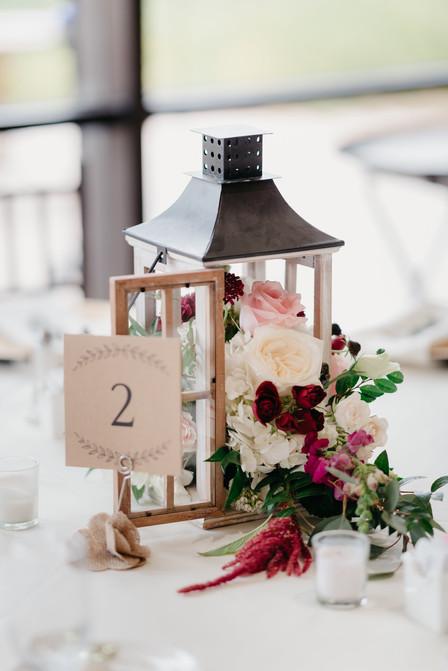 RECEPTION Lantern Centerpiece burgundy blush cream rustic elegance _@PacificViewsEventCenter table 2