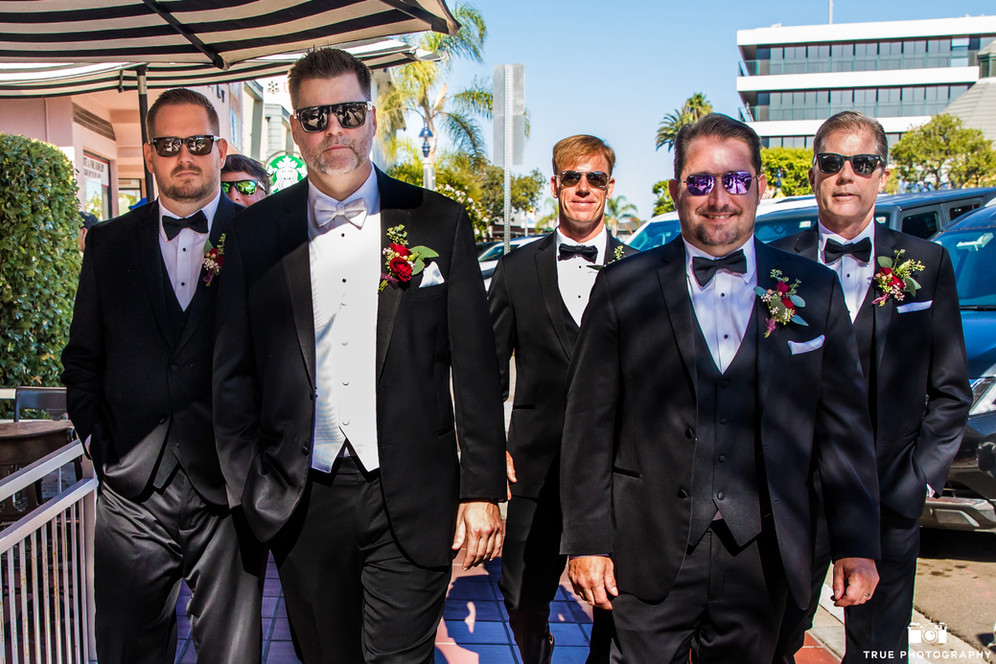 Clint our groom and his groomsmen in the