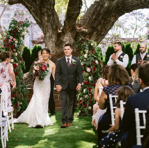 wedding ceremony at old tree @BrittScrippsManor