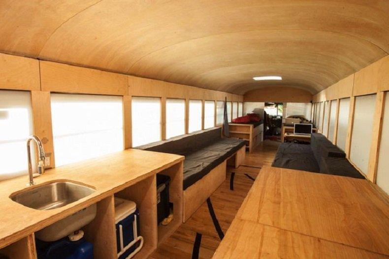 interior acogedor de este bus