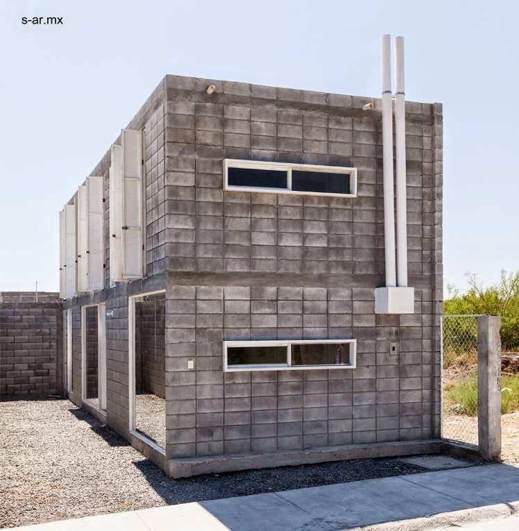 casas de block de concreto Mexico 1