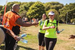 Barb Theresa finishing Run to Remember 14