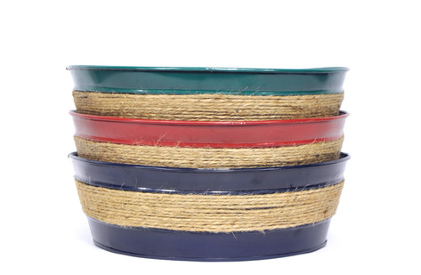 Rope Wrapped Metal Dishgarden W/L