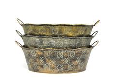 Royal Clover Metal Dishgarden W/L