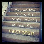 You dont have to see the whole staircase