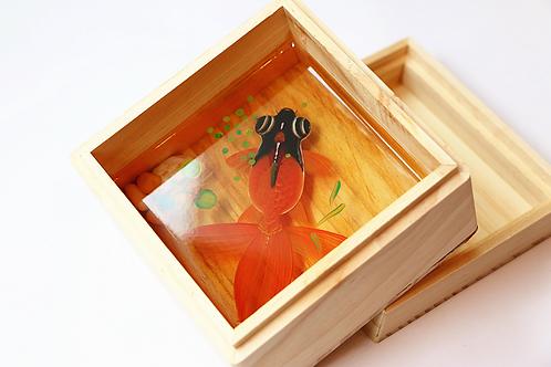 Black Head Orange Goldfish | Resin Art