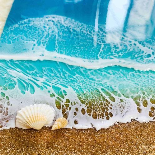Trotting Tides | Ocean Wall Decor | Resin Art