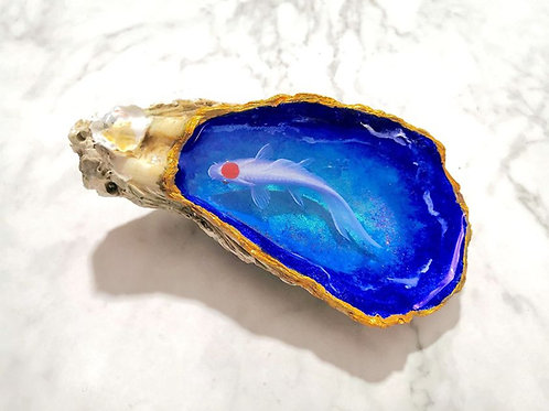 Fish Painting in Oyster Shell | Resin Art