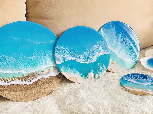 Tsunami Waves | Ocean Resin Art | Wall Decor