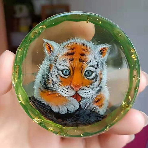 Cute Tiger Baby Painting