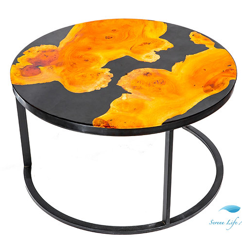 Mustard River Table | Epoxy Resin Table