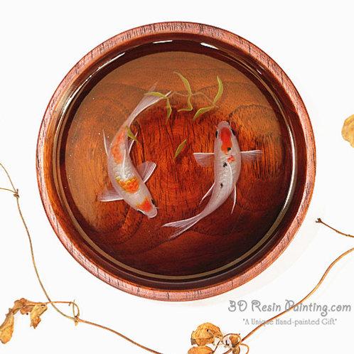 Koi Lovebirds | Koi Fish Painting