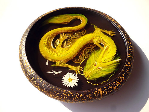 Golden Hydra | 3D Resin Painting