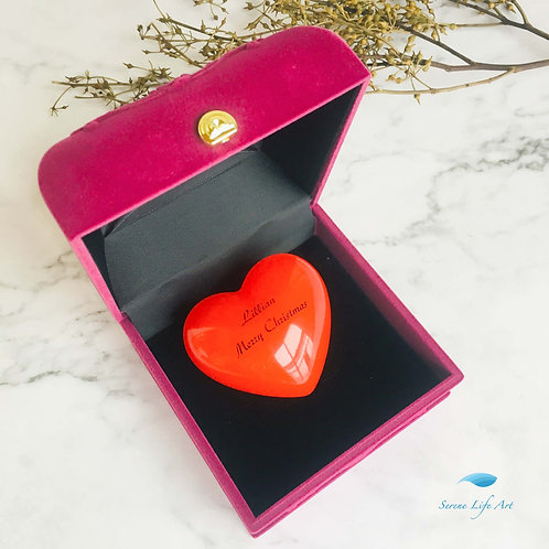 Rouge Amor | Red Resin hear | Personalized Gift Ideas
