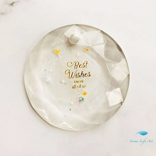 Best Wishes Crystal | Resin Pendant | Resin Jewelry