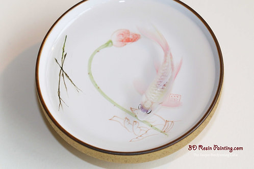 Pink Koi Painting In A Teacup