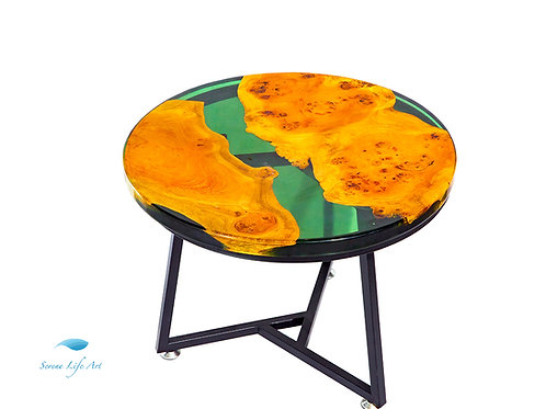 Umber Earth River Table | Epoxy Resin Table