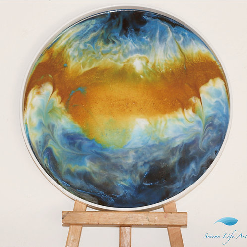 Golden Globe | Abstract Fluid Resin Painting
