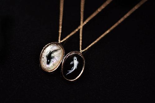 Yin Yang Fish Necklace   Avatar The Last Airbender Art