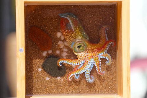 Orange Octopus | Resin Art