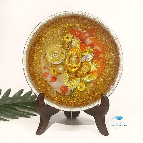 Glitzy Good Luck Koi | Resin Art