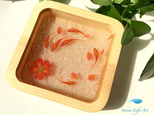 Mini Fishes and Flower | 3D Resin Painting | Resin Art