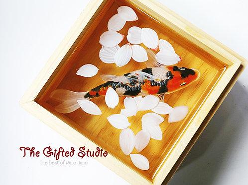 Cherry Blossoms and Koi | Resin Art