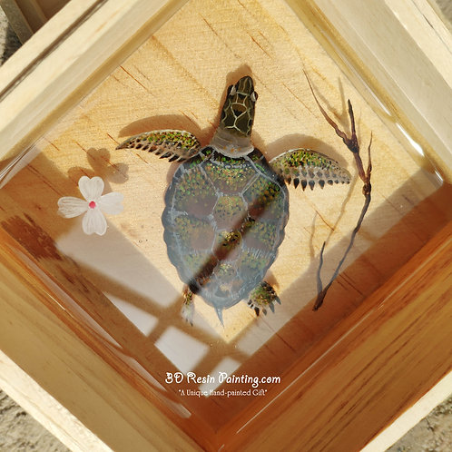Sea Turtle and Oriental Cherry