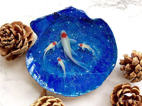 Starry Night Tancho Koi Fish | 3D Resin Painting