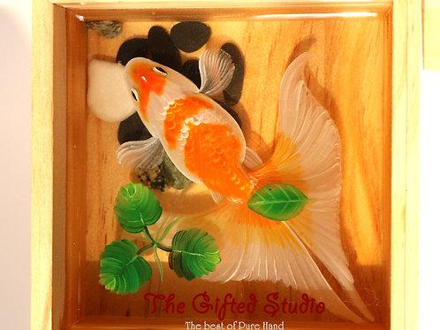 Goldfish with Clover | Resin Art