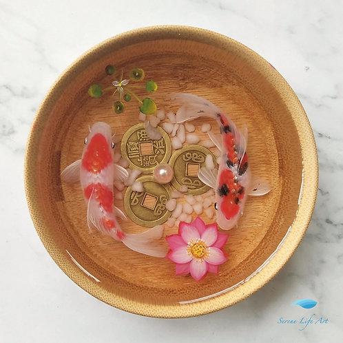 Kohaku and Taisho Sanke | Resin Art | Coffee table Decor
