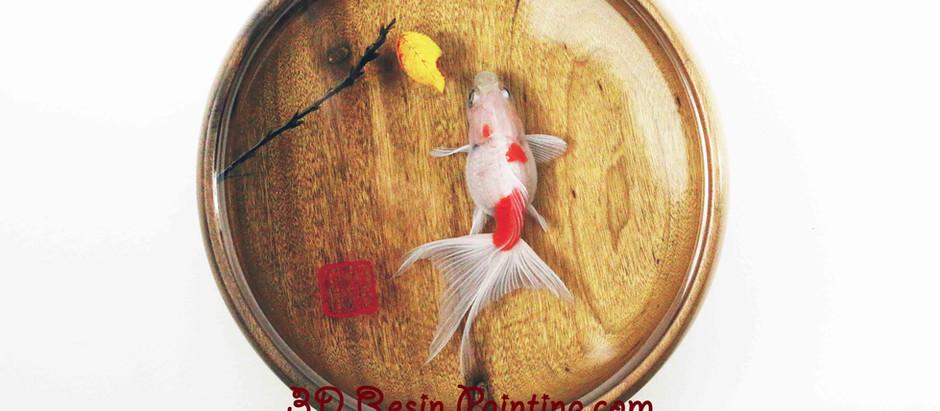 3D Goldfish Layered Resin Painting Process