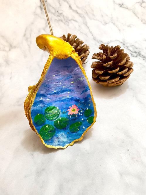 Lotus Painting Xmas Ornament