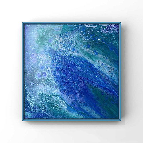 Ocean Trench | Abstract Pouring Painting