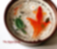 resin painting in oil holder,Koi with tortoise resin painting