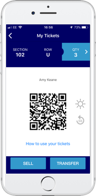 Flash Mobile Digital Ticket on The O2 app