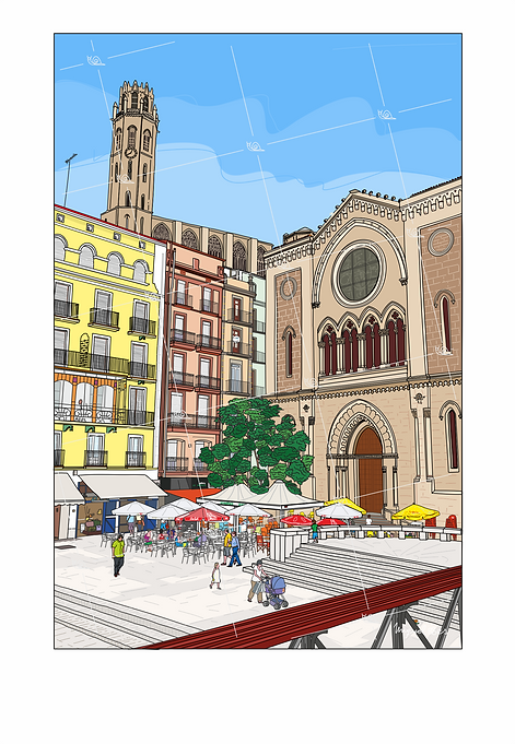 Plaza San Juan de Lleida